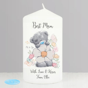 Personalised Me to You Best Mum Pillar Candle