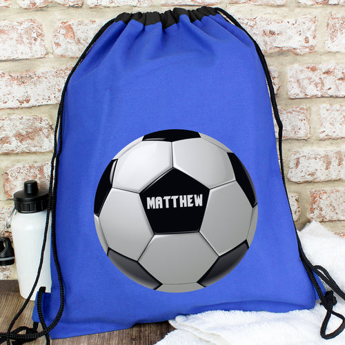 Personalised Blue Football Kit Waterproof Bag