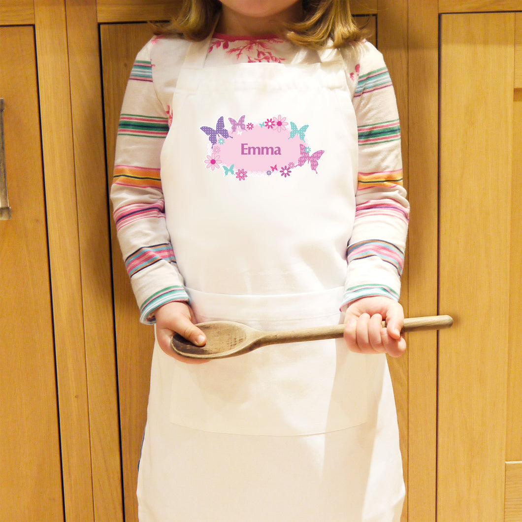 Personalised Butterfly Design Children's Apron