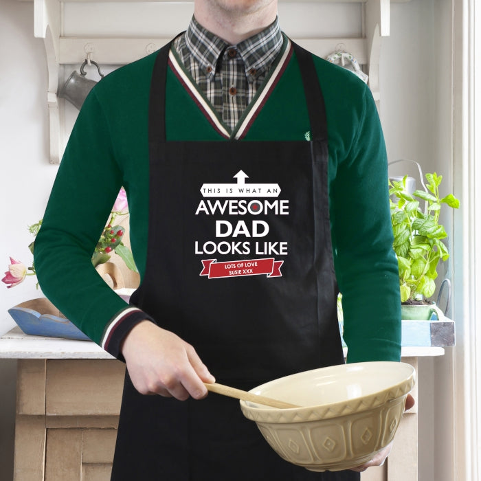 Awesome Dad Personalised Cotton Apron