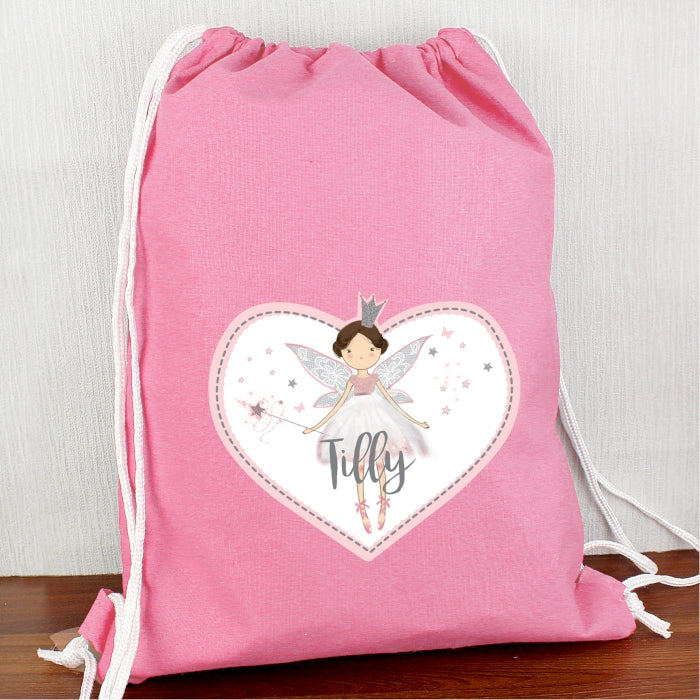 Personalised Fairy Princess Waterproof Swimming / PE Kit Bag
