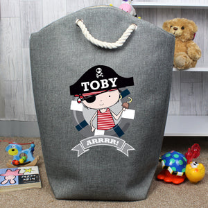 Personalised Little Pirate Storage Bag