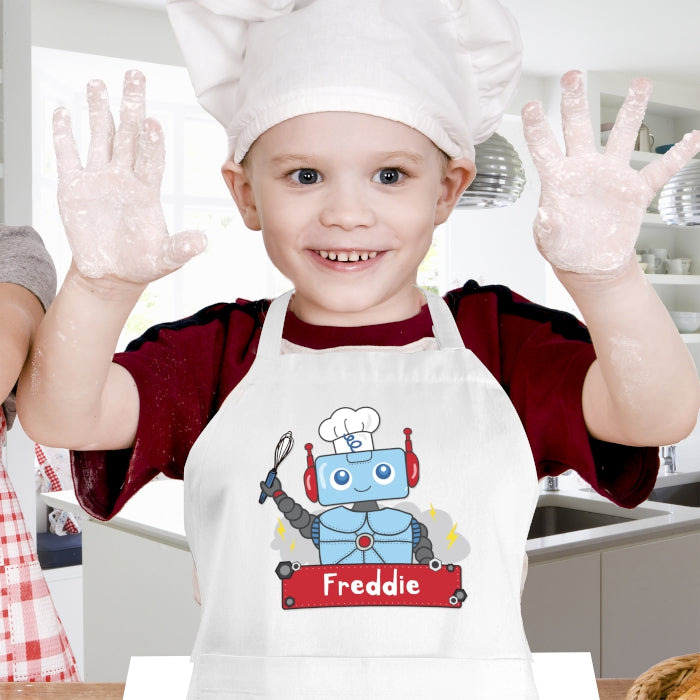 Personalised Robot Design Children's Apron