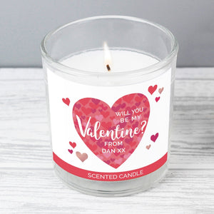 Will You Be My Valentine? Personalised Scented Candle - Nola Gifts UK
