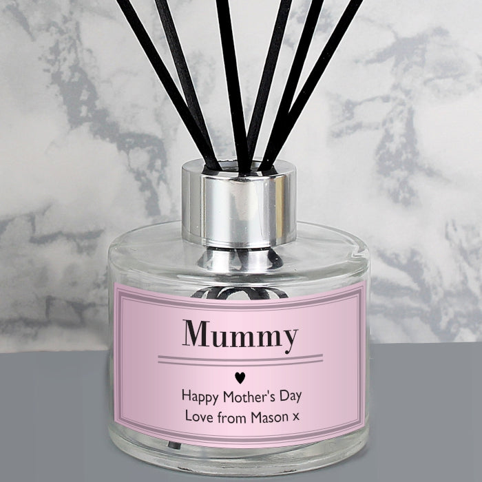 Personalised Pink Label Reed Diffuser