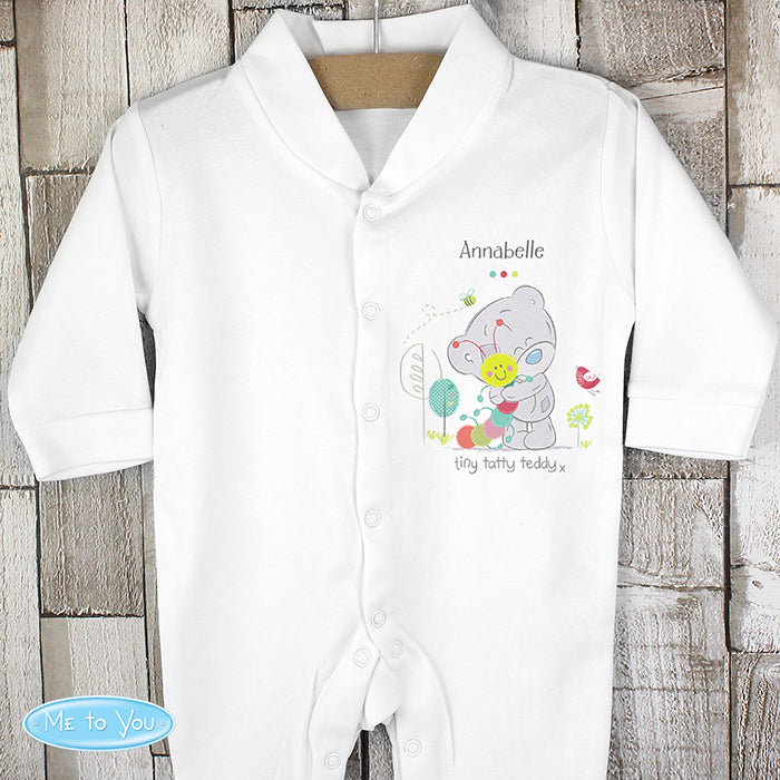 Personalised Tiny Tatty Teddy Cuddle Bug Babygrow 6-9 months