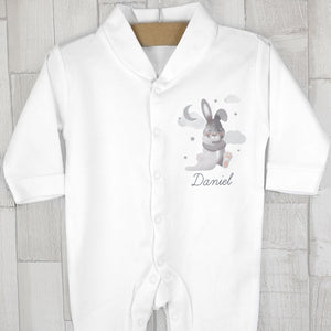 Personalised Baby Bunny Babygrow 3-6 months