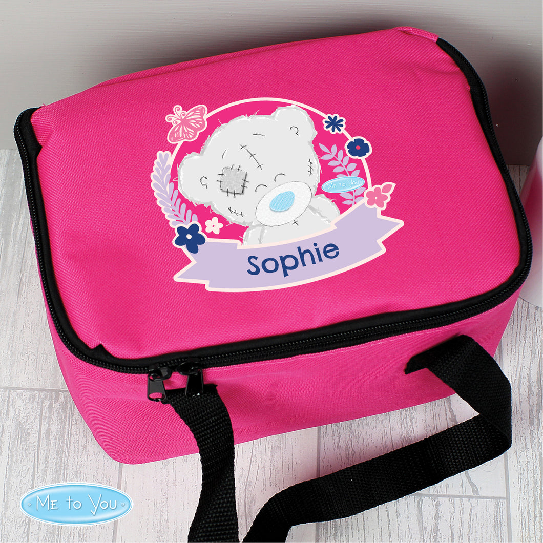 Personalised Me To You Insulated Pink Lunch Bag