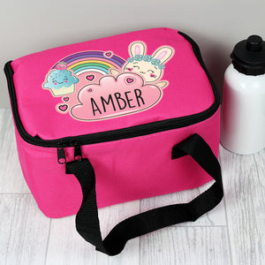 Personalised Cute Bunny Design Insulated Lunch Bag