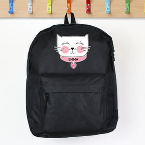 Personalised Cat Design Child's Backpack