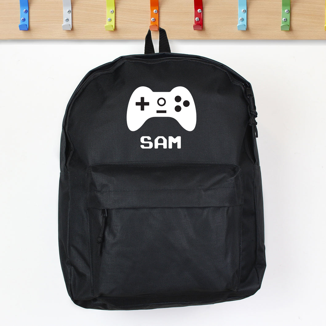 Personalised Gamer Design Child's Backpack