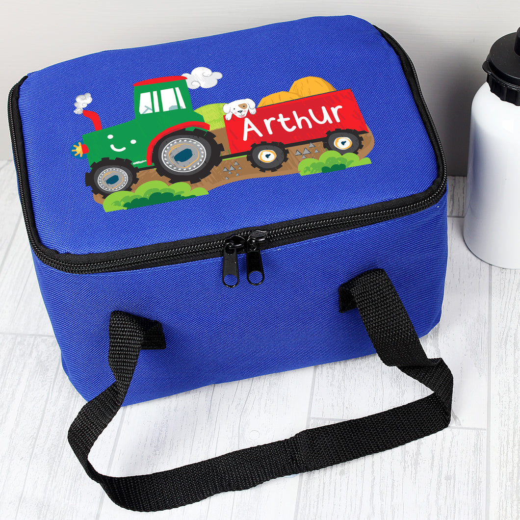 Personalised Tractor Design Insulated Lunch Bag