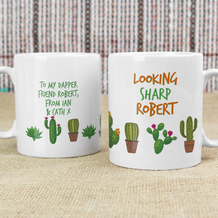 Personalised Cactus Design Mug