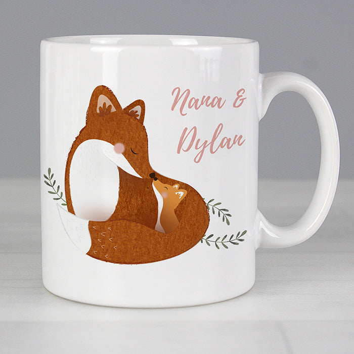 Personalised Nana & Me Fox Design Mug