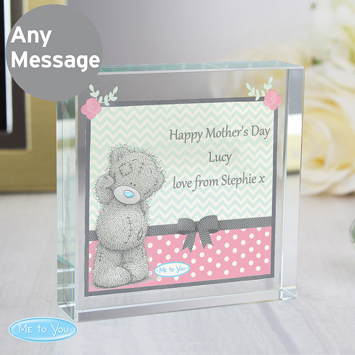 Personalised Happy Mother's Day Crystal Keepsake Token