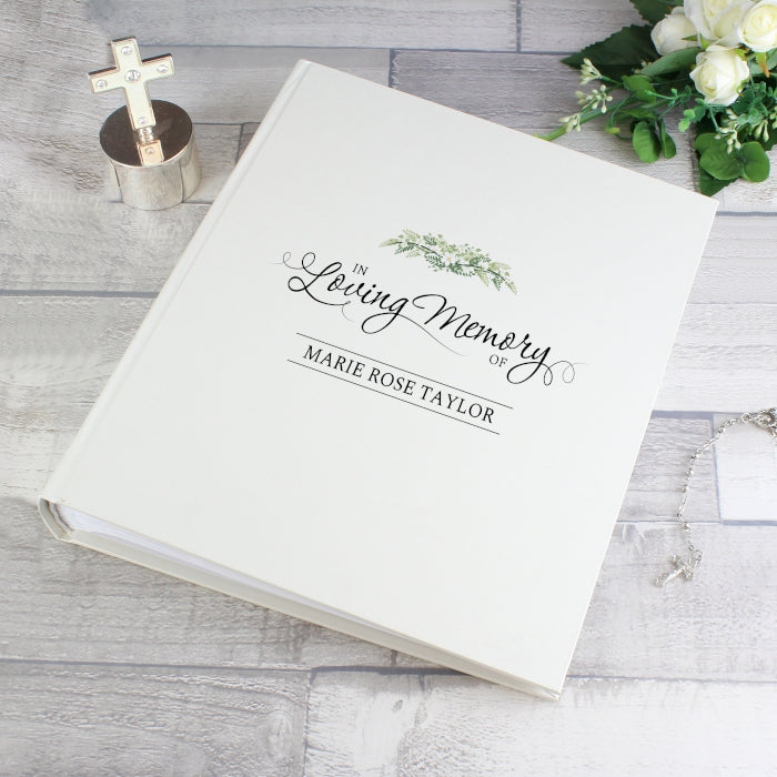 Personalised In Loving Memory Traditional Photo Album