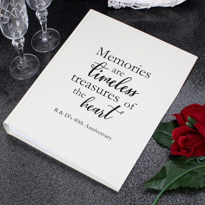 Personalised 'Memories are Timeless' Traditional Photo Album