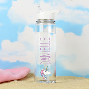 Personalised Unicorn Island Water Bottle