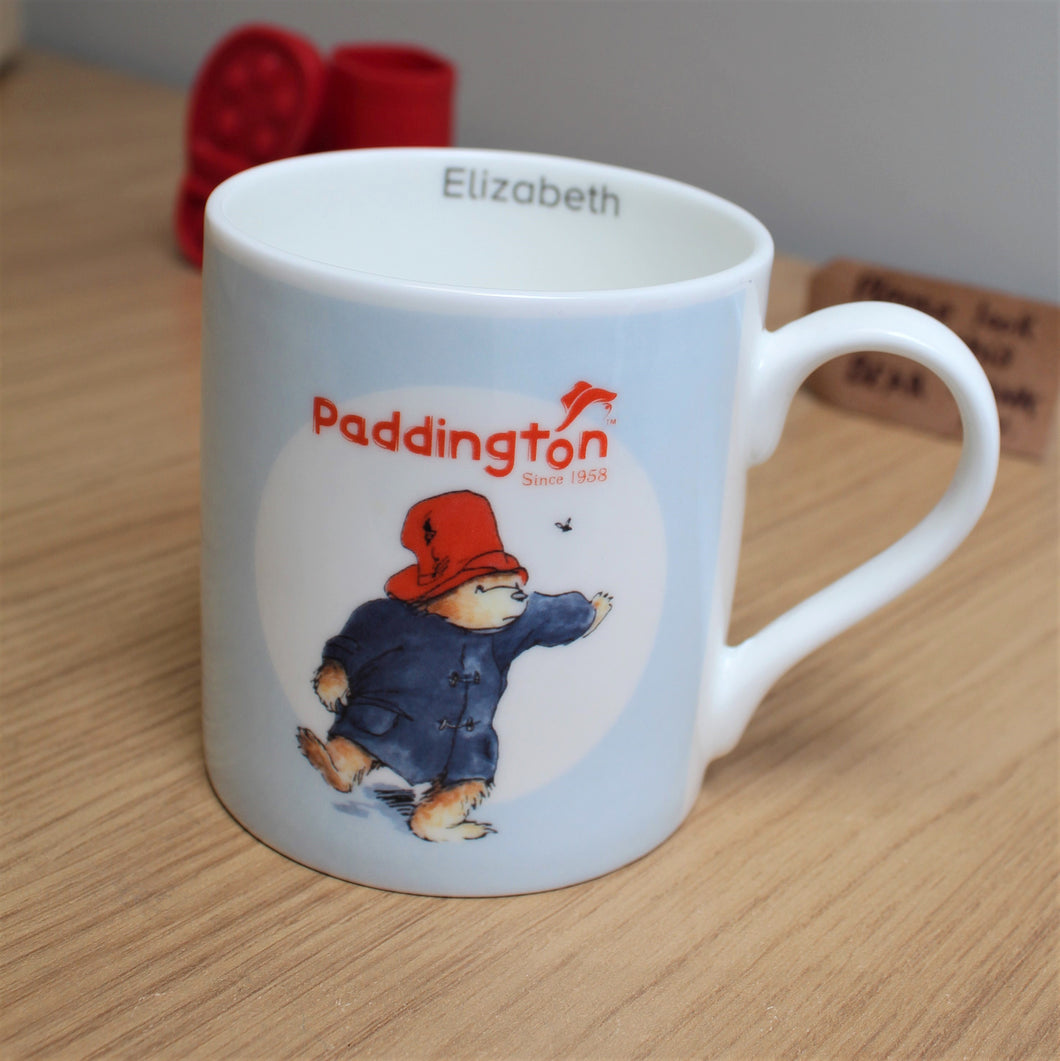 Personalised Paddington Bear Bone China Balmoral Mug