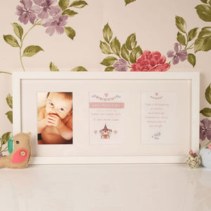 Personalised Wall Mounted Baby Christening Frame: Church Design