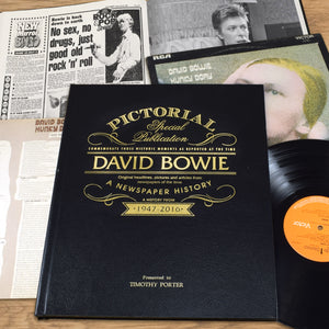 Personalised David Bowie Luxury Pictorial Edition Newspaper Book