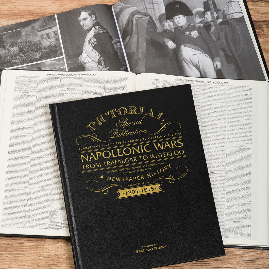 Personalised Napoleonic Wars Luxury Pictorial Edition Newspaper Book