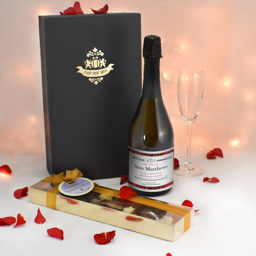 Personalised Prosecco & Chocolate Truffles Gift Set