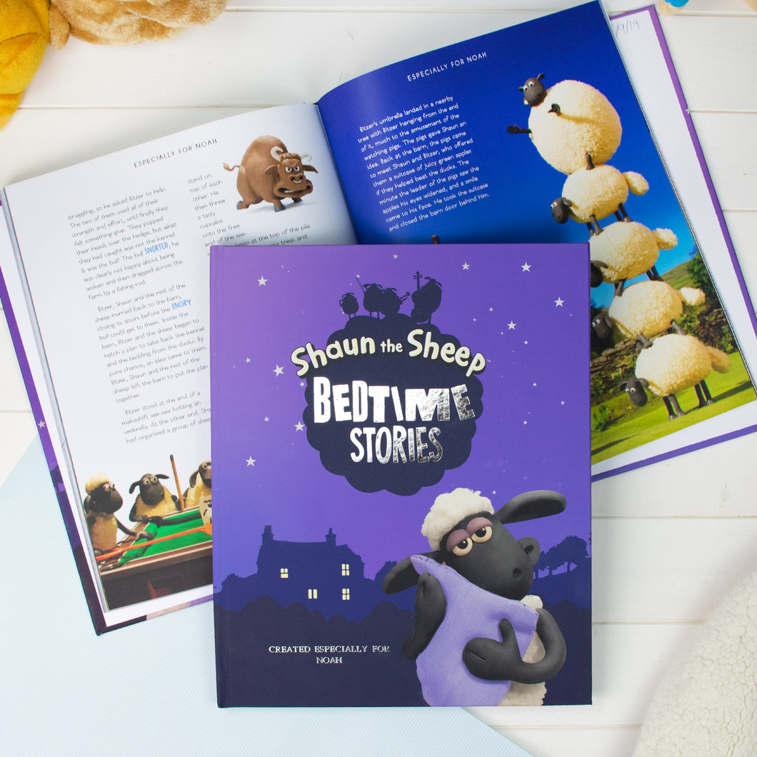 Personalised Shaun The Sheep Bedtime Story Collection Book