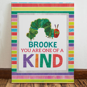 Very Hungry Caterpillar One Of A Kind Personalised Wall Canvas