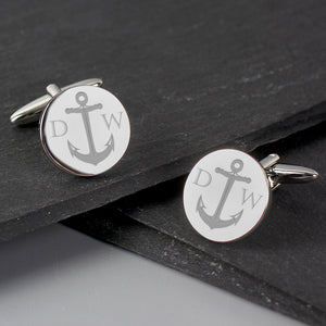 Personalised Anchor Design Cufflinks