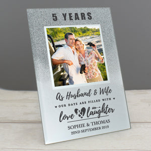 Personalised Any Anniversary Glitter Photo Frame