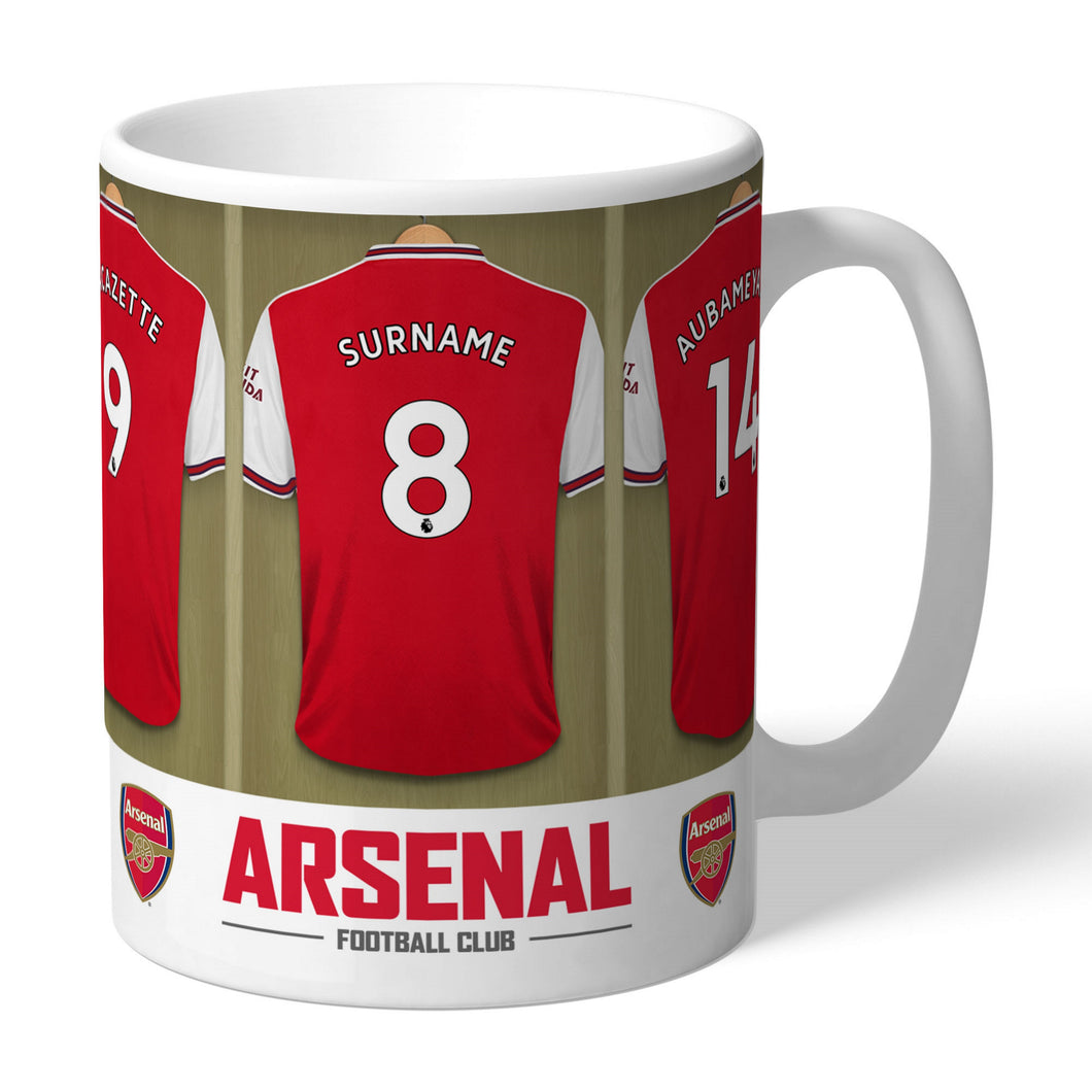 Personalised Arsenal FC Dressing Room Mug