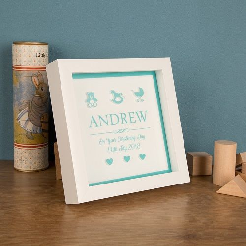 Personalised 3D Baby Boy Box Frame