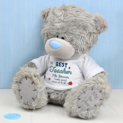 Personalised Best Teacher Me To You Teddy Bear