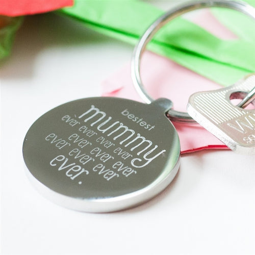 Personalised Bestest Mummy Ever Ever Ever Keyring