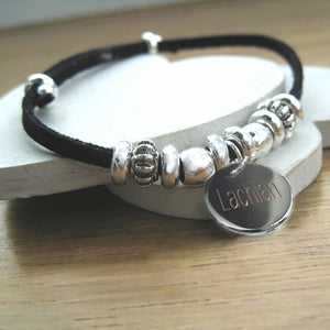 Personalised Suede India Bracelet For Men