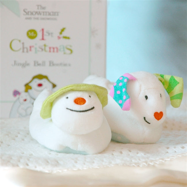 The Snowman & The Snow Dog Baby's 1st Christmas Booties