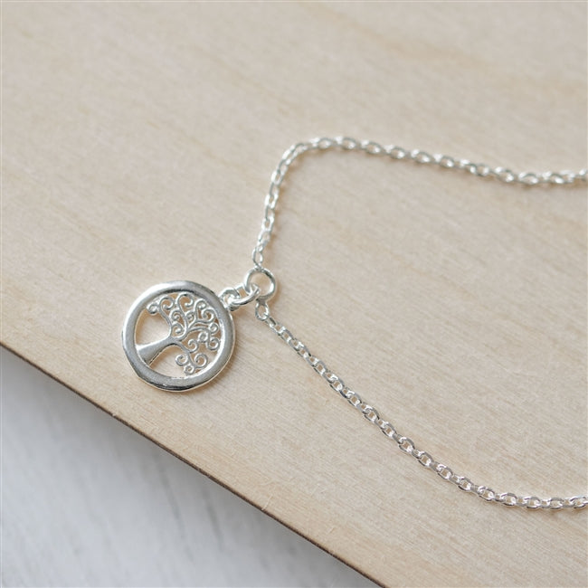 Tree Of Life Sterling Silver Bracelet With Personalised Gift Box