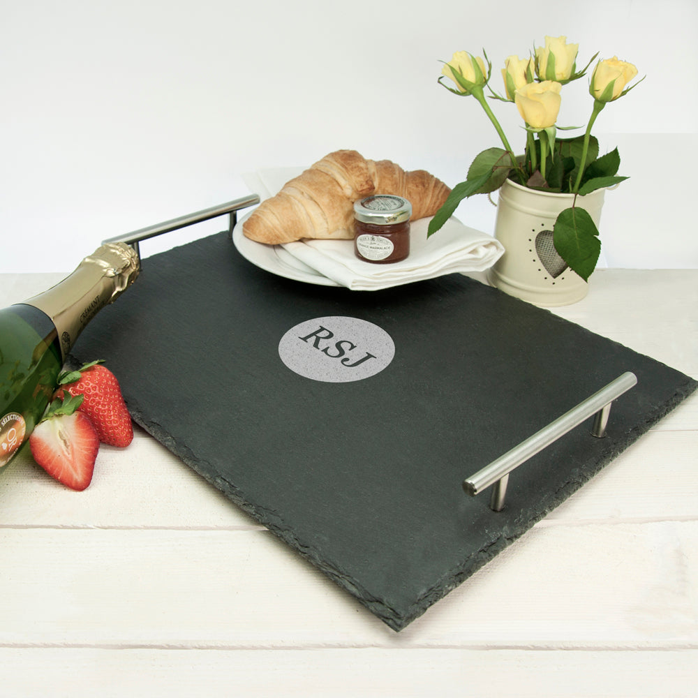 Personalised Breakfast In Bed Slate Tray