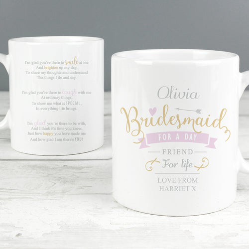Personalised Bridesmaid Mug