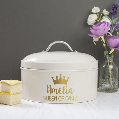 Personalised Queen Of Cakes Cake Tin