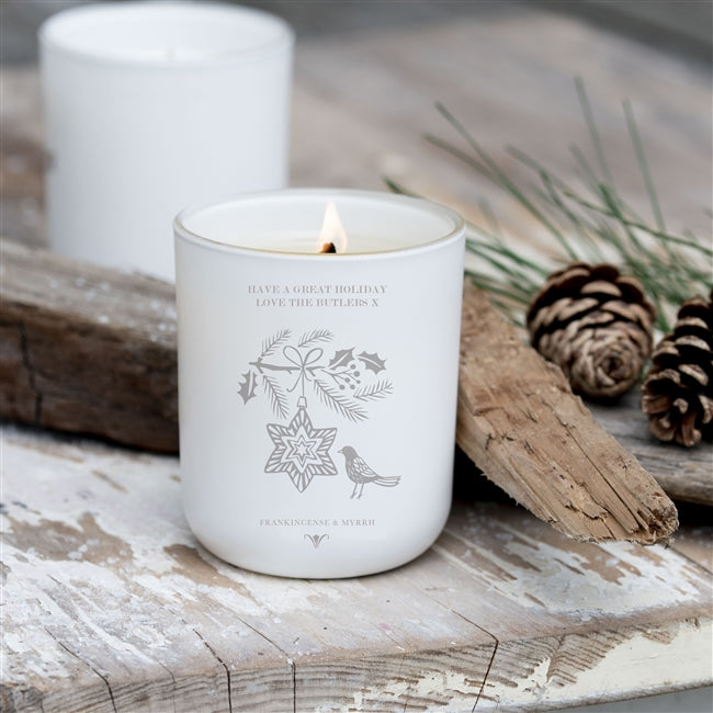 Personalised Luxury Soy Scented Christmas Candle