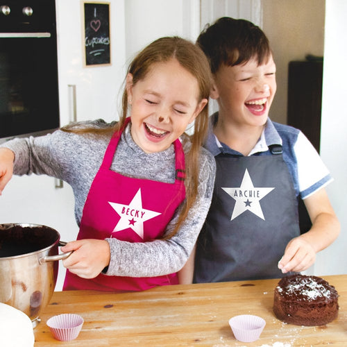 Personalised Children's Star Apron In Choice Of Colours