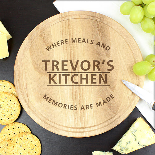 Personalised Meals & Memories Wooden Chopping Board