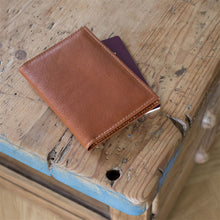 Load image into Gallery viewer, Personalised Tan Leather Passport Cover