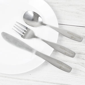 Personalised 3 Piece Child's Cutlery Set