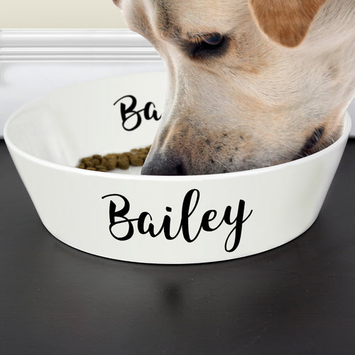 Personalised Pet's Large Food / Water Bowl