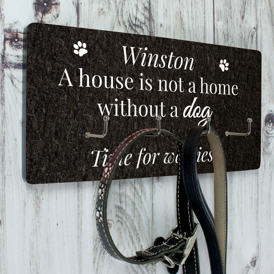 Personalised Dog Leads Hook Plaque