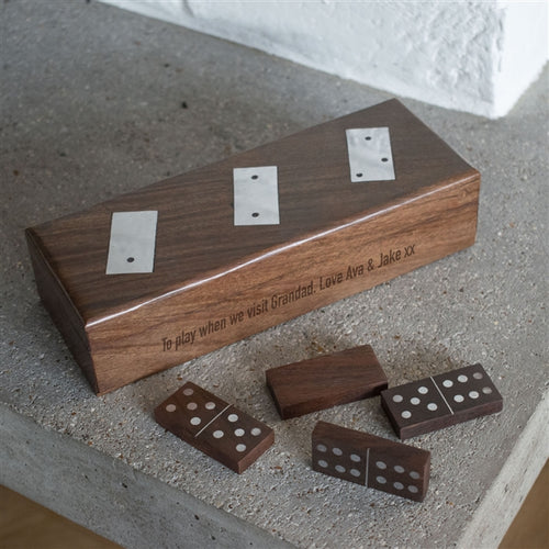 Personalised Hand Crafted Wooden Domino Set