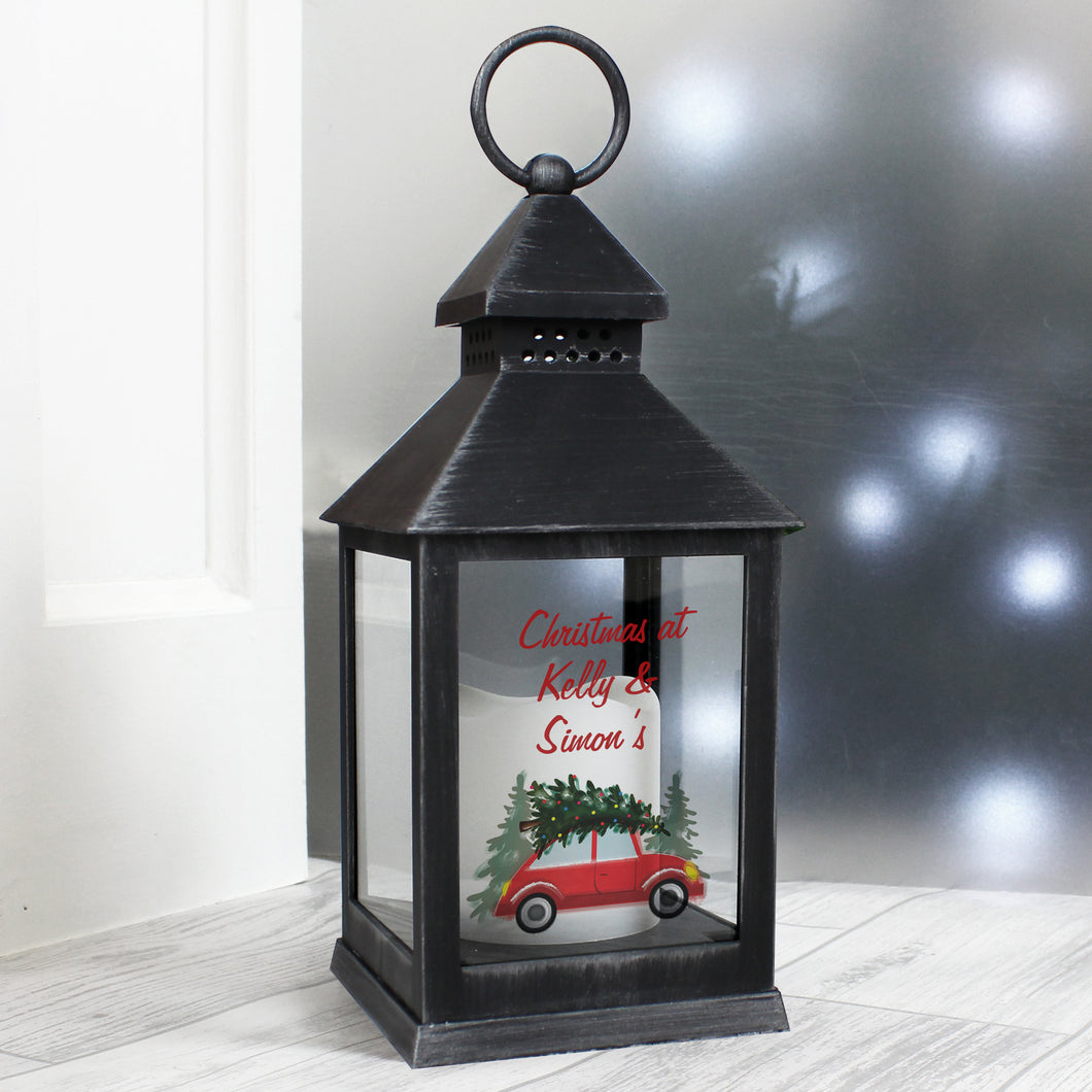 Personalised Christmas Battery Operated Lantern